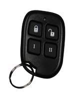 Wireless Keyfobs for remote setting and unsetting of your system