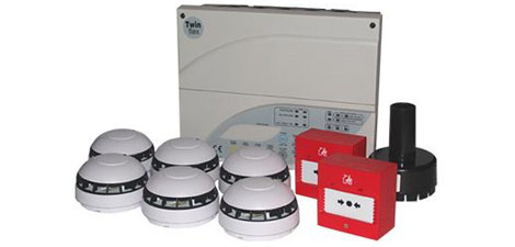Fike Twinflex Fire Alarm Package with smoke heads, heat heads, sounders and manual call points
